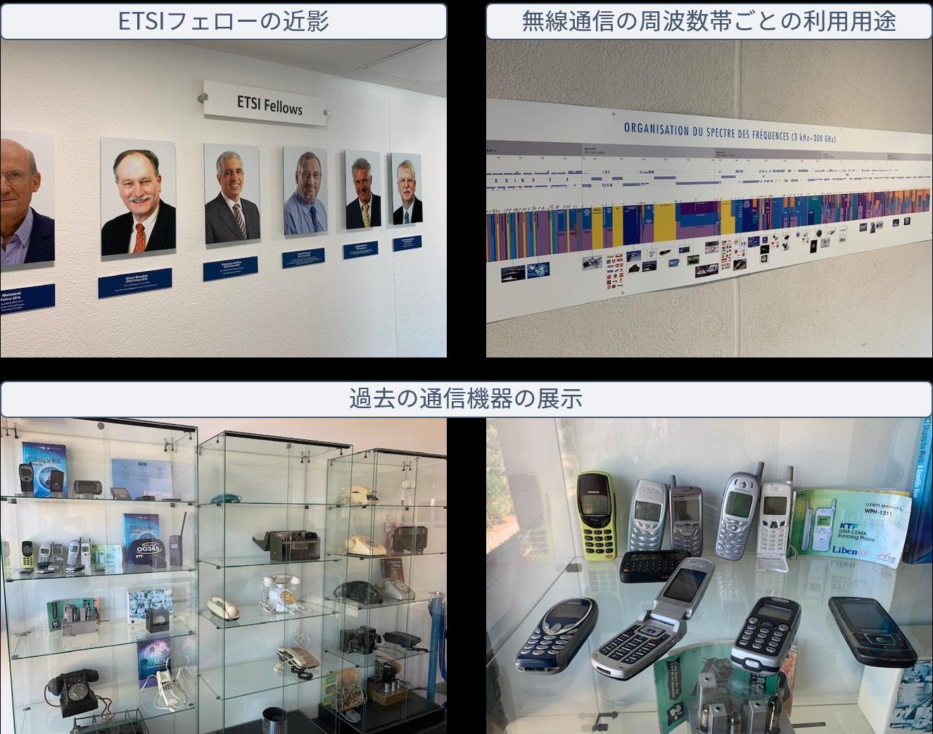 ETSI内の展示物